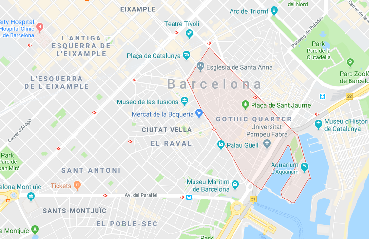 El Gòtic, Barcelona