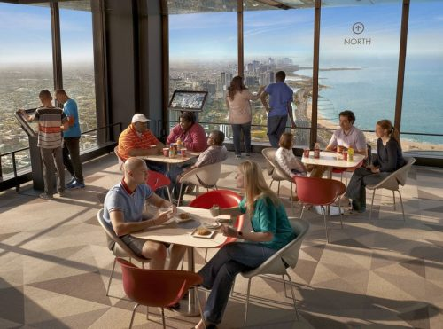 Watch the Sunset from the Chicago Observation Deck
