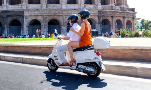 Scooter Rental and Colosseum Tour
