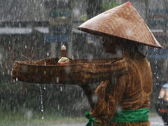 Bali Rain Season Lady