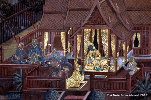 History of the Mural in the Grand Palace in Bangkok