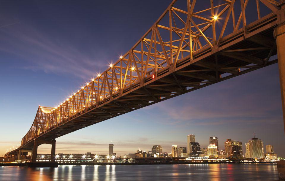 Toll bridge over Mississippi River