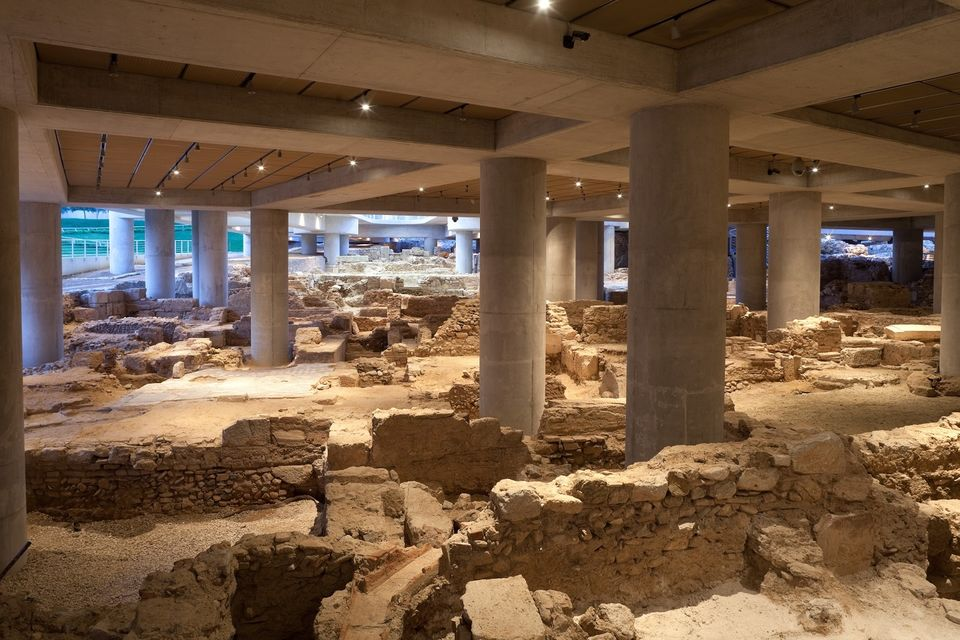 Artifacts at the Acropolis Museum
