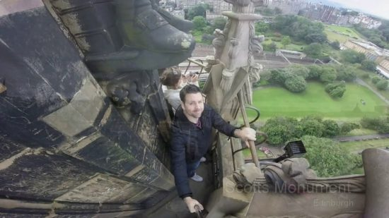 Climb the Scott Monument