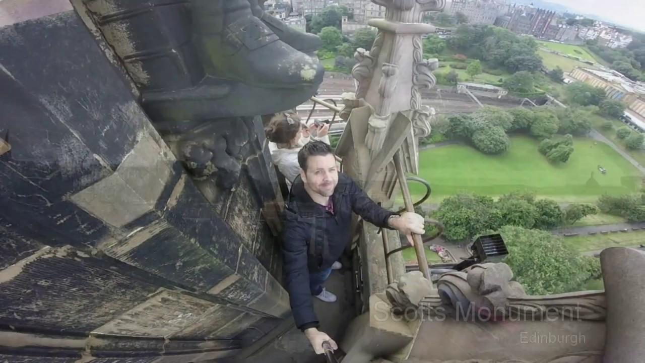 Climb the Scott Monument