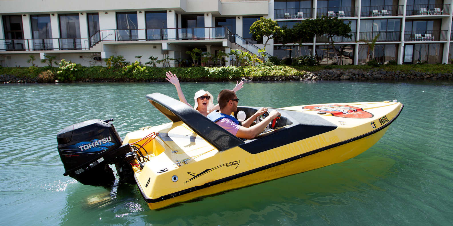 Cruise around on a Speed Boat