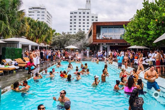 SLS Pool Party at Hyde Beach