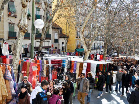 Shop in the El Rastro Street Market