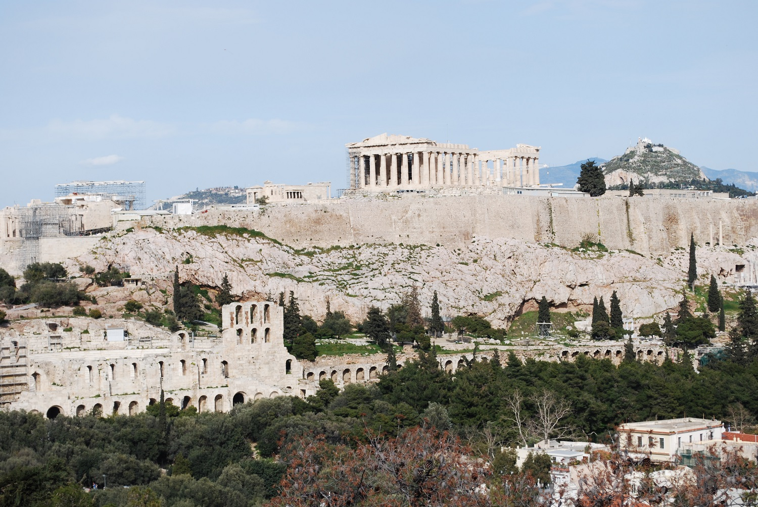 View the Acropolis from Philopappou Hill