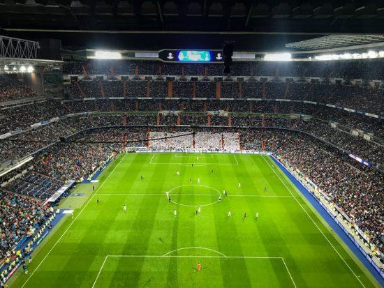Watch a Fútbol game at the Bernabéu Stadium
