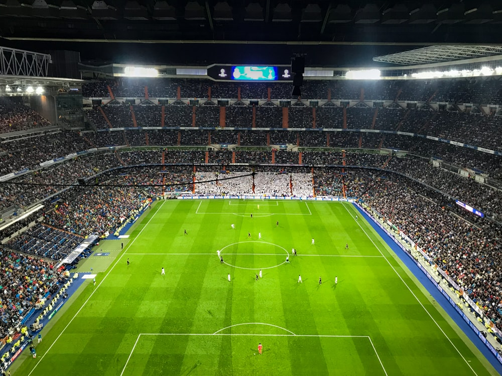 Watch a Fútbol game at the Bernabéu Stadium