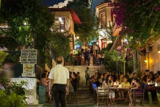 Greek Dancing in Plaka with 3-Course Meal and Wine