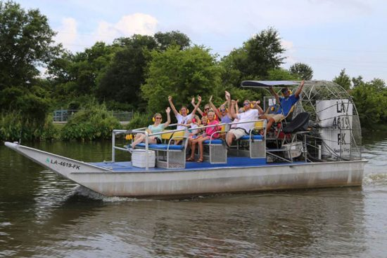 High Speed 16 Passenger Airboat Ride