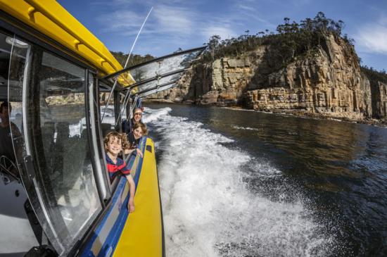 Cruising down the Derwent River