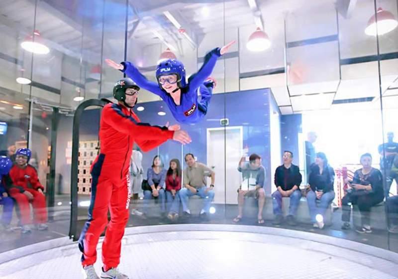 Try indoor skydiving in Sentosa